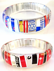 recycled tin can bracelet