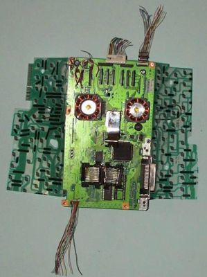 recycled computer parts art