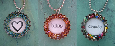 recycled bottle cap necklace