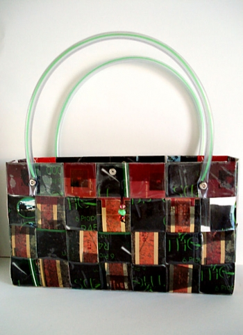 recycled paper handbag