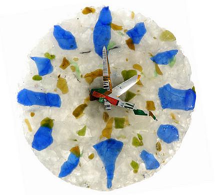 recycledglassclock