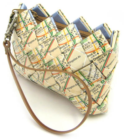 recycled map bag