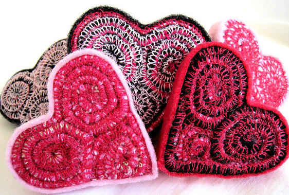 recycled heart for valentines day