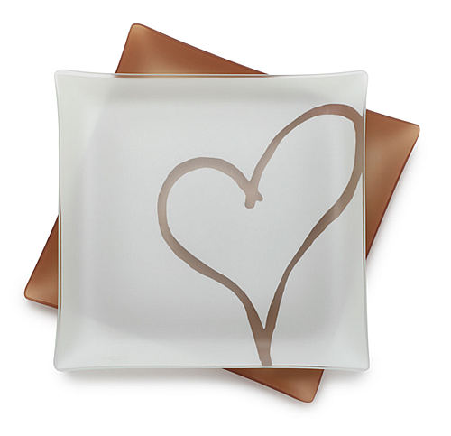 recycled plate with a heart
